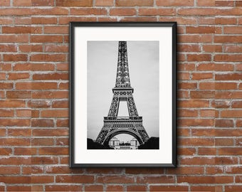Series of 3 Eiffel Tower Black and White (8x10)