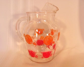 Juice Pitcher in the Tomato and Oranges from the 1950's