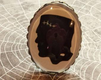 Silhouette Frankenstein adjustable ring Halloween