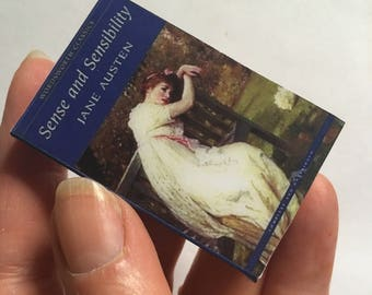 Mini Book Brooch, Classic novel, Austen, Sense and Sensibility