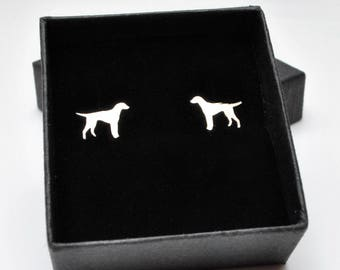 Sterling silver Labrador stud earrings