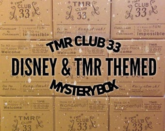 TMR's Club 33 | Monthly Subscription Mystery Box | Disney Inspired/Themed