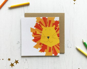 Lenny the lion greeting card