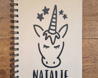 Personalised Unicorn Notebook