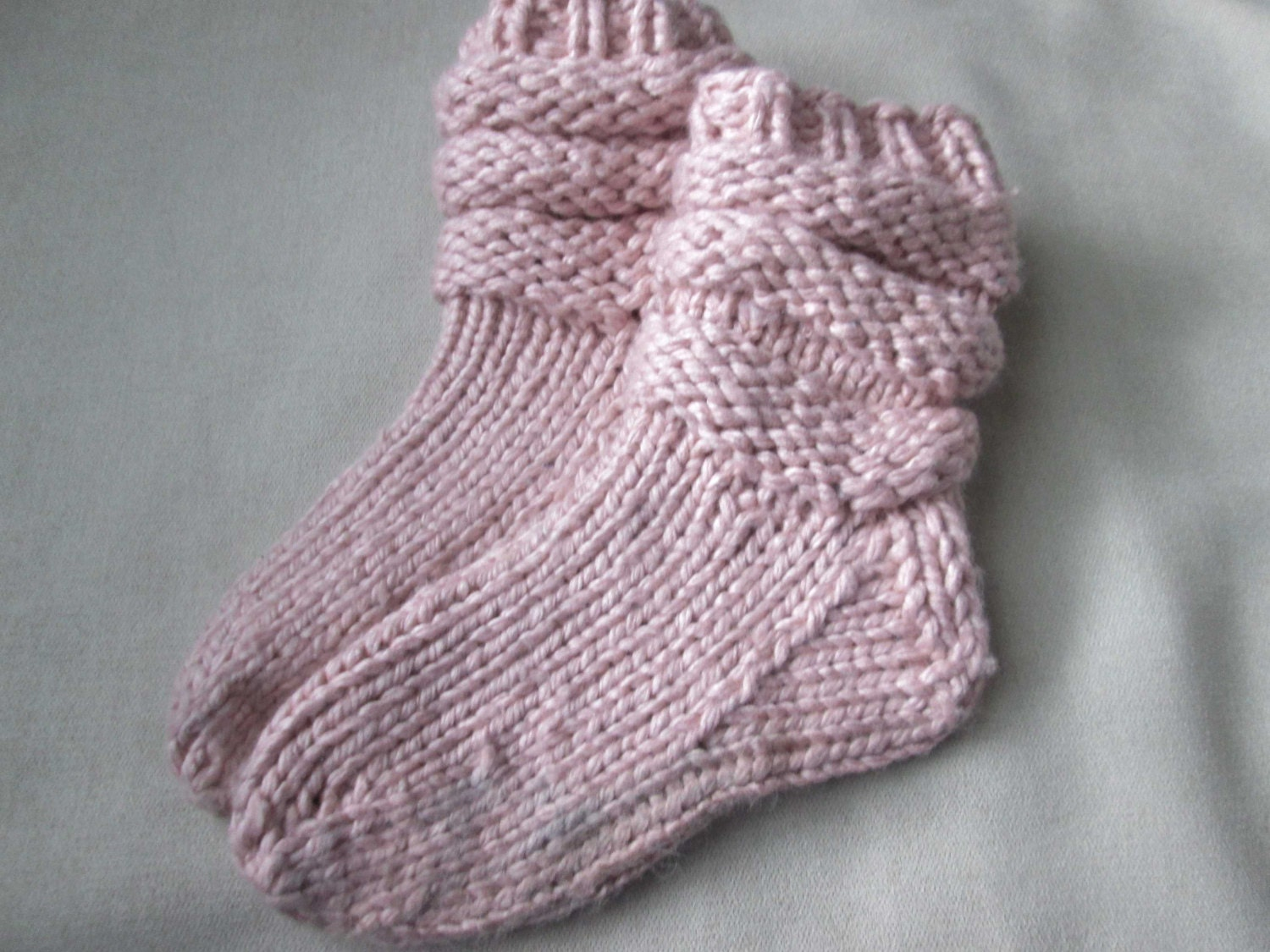 Slipper Socks Knitting Pattern - Pattern for Chunky Knit Slipper ...