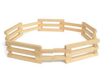 Wooden Folding Corral Fence Toy, Amish Made