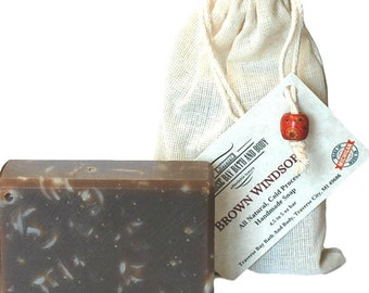Brown Windsor An old-fashioned classic , all natural soap, handmade soap, cold process soap, vegan soap, essential  oil soap. Fathers Day.