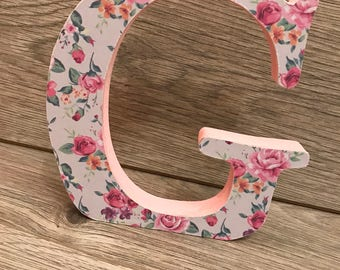 Freestanding wooden letters
