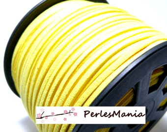 2 m suede PG0138 quality sunny yellow suede cord