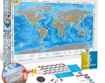 Framed world map with scratch off silver scratch special scratch off world poster premium quality large size 24x35 us states gumiabroncs Choice Image