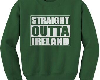 Straight Outta Ireland Adult Crewneck Sweatshirt