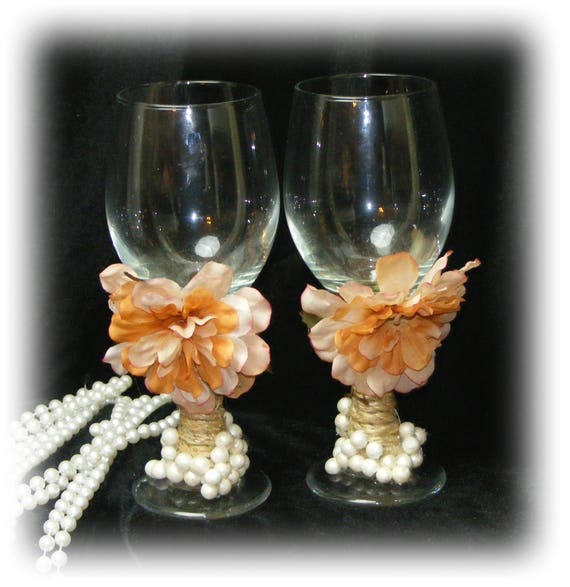 Beautiful BRIDE & GROOM GOBLETS