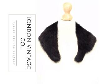Vintage black fox real fur collar /stole /scarf . 狐狸毛 فرو الثعلب