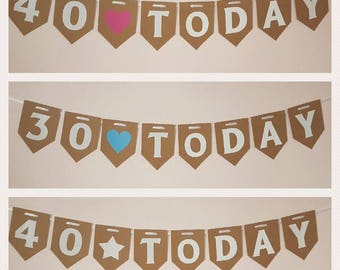 Big Aged Birthday Bunting Party Decorations Garland Banner Birthday Room Banner 16 18 21 30 40 50 60 70 TODAY