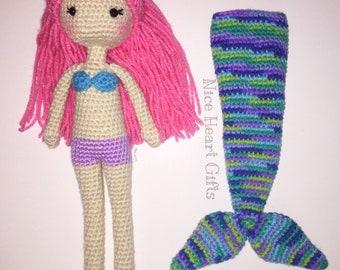 Mermaid Doll With Detachable Tail Crochet