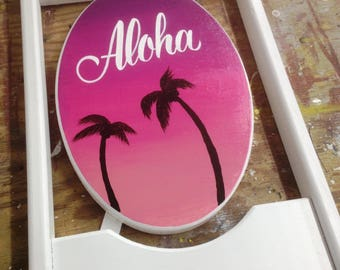 Hand Painted Aloha Sign