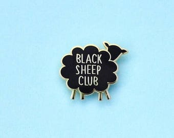 Enamel Pin Black Sheep Club Lapel Pin Gifts under 10