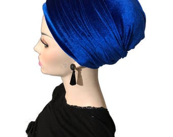Coverlee headband wrap, Long velvet headscarf, mitpachat, wrap, long scarf