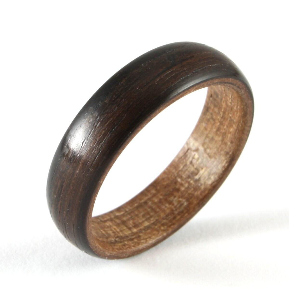 Célèbre Bague de mariage en bois ébène pour un homme OA13