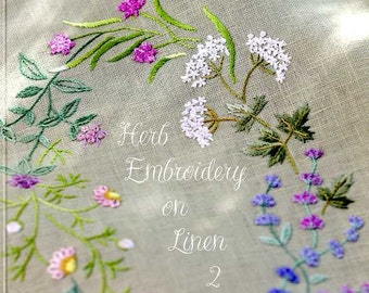 Herb Embroidery on Linen - Japanese Craft Book