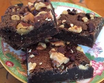 Gluten free vegan fudge brownies