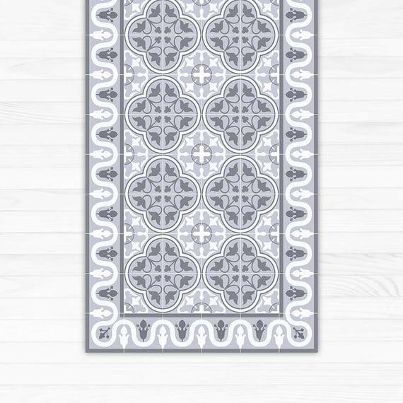 vinyl teppich dekorative grauen fliesen gedruckt auf pvc. Black Bedroom Furniture Sets. Home Design Ideas