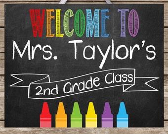 Teacher Classroom Decor Personalized Teacher Sign