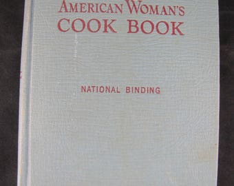 The American Woman's Cook Book // 1951 Hardback // Great Vintage Cookbook w instructions, menus and how to party!