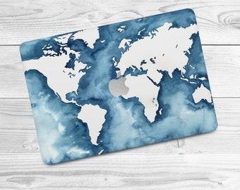 World map decal etsy ocean print macbook air 13 skin world map macbook 12 skin macbook world 2017 macbook decal macbook map case skin macbook pro 13 world map gumiabroncs Choice Image