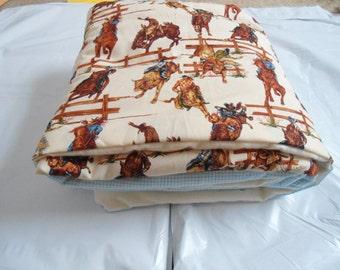 Cowboy Themed Flannel Blanket