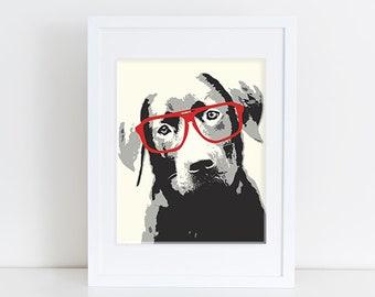 Lab Art Print - Modern Dog Art