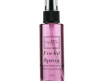 Facial Spray with Rosewater, Witch Hazel, Aloe & Green Tea Leaf Extract, Setting Spray, Toner, Natural Organic Setting Spray, Facial Mist
