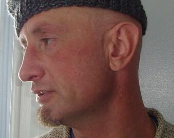 Wool beret, crochet men's beret, New york style, chapeau hommes, Wool beanie,  New York stylish city guy