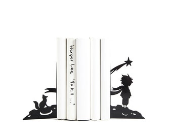 Bookends The Little Prince // Antoine de Saint-Exupéry // Metal decorative holders for children's books // Gift for reader // Free Shipping