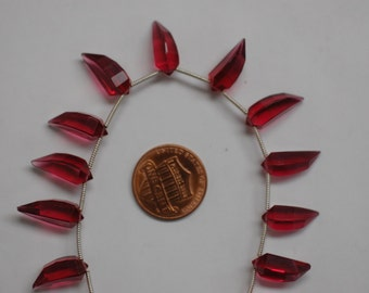 Red Hydro Quartz Okra Faceted