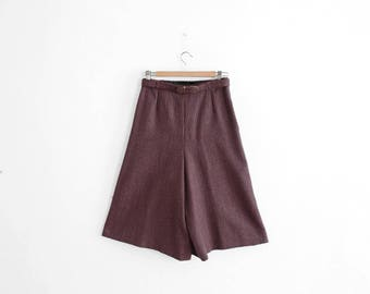 Vintage Culotte Skirts - Made In France - Tweed