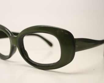 Green Vintage Eyeglasses Unique vintage Eyewear Retro Glasses Catseye glasses vintage frames