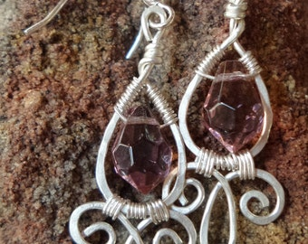 Briolette Crystal turned into lovely wire wrapped droplets