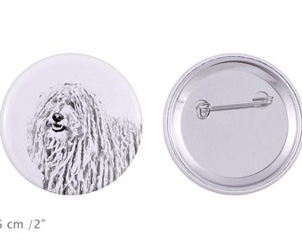 Buttons with a dog - Puli