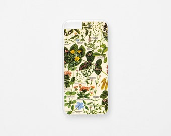 iPhone 6 Case -  Vintage Floral iPhone Case - iPhone 6s Case - Botanical Illustration iPhone Case - Hard Plastic or Rubber