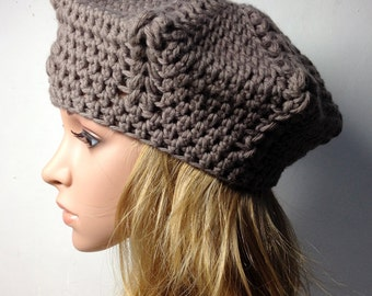 Crochet PATTERN - LIO BERET - Crochet Hat Pattern - crochet hat pattern