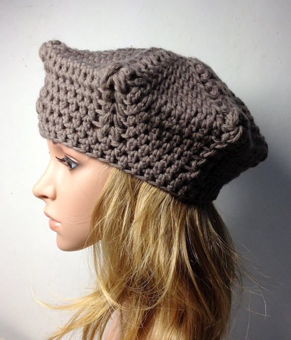 Crochet Pattern Lio Beret Crochet Hat Pattern Crochet