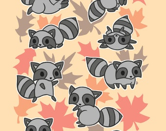 Raccoon Art Print - Available in 4x6, 5x7, and 8x10 sizes
