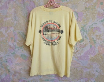 Vintage 1980s Return To Nature Paperthin T Shirt