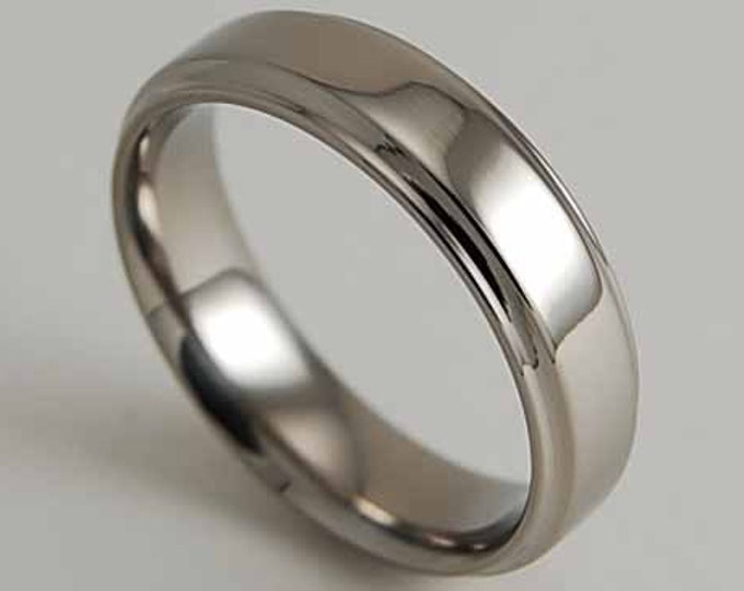 Neptune with Comfort Fit Interior , Wedding Band , Titanium Ring , Promise Ring