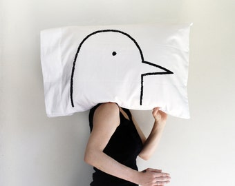 Love Bird Pillow case, funny gift for him boyfriend gift valentines husband gift for him wife gift home decor pillow