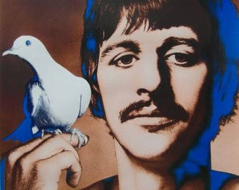 Original Stern 1967 Ringo Starr Psychedelic Poster by Richard Avedon