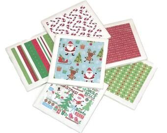 Christmas  Coasters - Winter Coasters - Santa Coasters - Christmas Gift Coasters - Christmas Decor - Merry Christmas Coasters