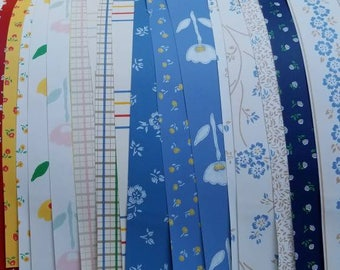 Vintage wallpaper 16x8 inches. 21 peices.