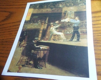 """Between Rounds, 1899, Thomas Eakins, Boxer, Billy Smith,  Boxing art, fighting art prints, Sports bookplates, 6.5""""w x 8.5""""h  Bookplate"""